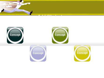 Rushing Man Free PowerPoint Template Slide 19