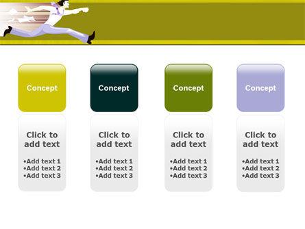 Rushing Man Free PowerPoint Template Slide 5