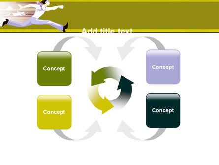Rushing Man Free PowerPoint Template Slide 6