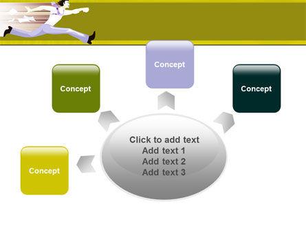Rushing Man Free PowerPoint Template Slide 7