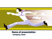 Business Concepts: Rushing Man Free PowerPoint Template #05928