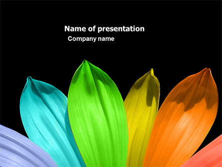 Religious/Spiritual: Seven Color Flower PowerPoint Template #05929
