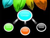 Seven Color Flower PowerPoint Template#4
