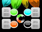 Seven Color Flower PowerPoint Template#9