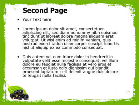 Blackcurrant Free PowerPoint Template Slide 2