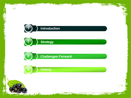 Blackcurrant Free PowerPoint Template, Slide 3, 05931, Agriculture — PoweredTemplate.com