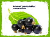 Agriculture: Blackcurrant Free PowerPoint Template #05931