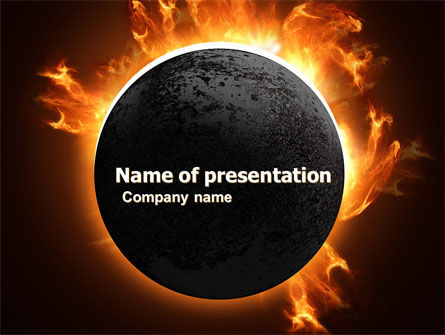 Nature & Environment: Solar Eclipse PowerPoint Template #05932
