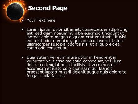 Solar Eclipse PowerPoint Template, Slide 2, 05932, Nature & Environment — PoweredTemplate.com
