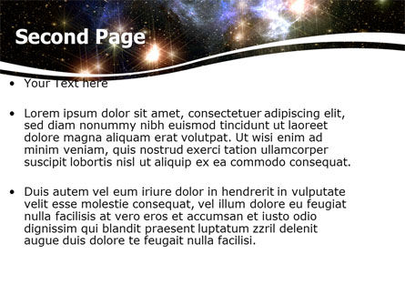 Universe PowerPoint Template, Slide 2, 05933, Technology and Science — PoweredTemplate.com