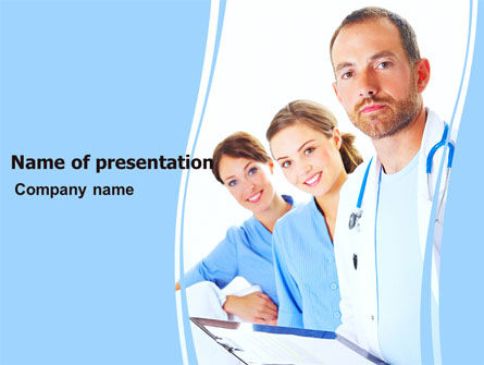 People: Medical Team On Duty PowerPoint Template #05935