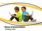 Education & Training: Boys PowerPoint Template #05938