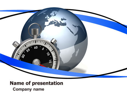 World On Time PowerPoint Template, 05939, Global — PoweredTemplate.com