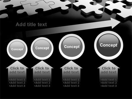 Silver Puzzle PowerPoint Template Slide 13
