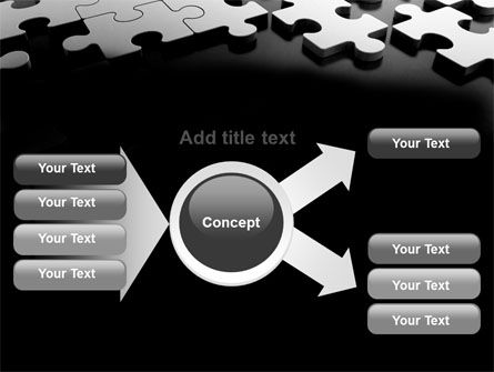 Silver Puzzle PowerPoint Template Slide 14