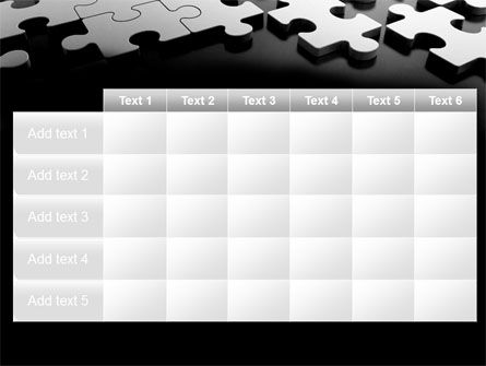Silver Puzzle PowerPoint Template Slide 15