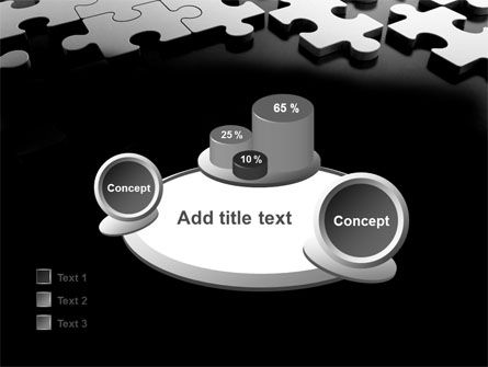 Silver Puzzle PowerPoint Template Slide 16