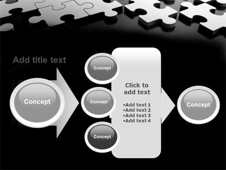 Silver Puzzle PowerPoint Template Slide 17
