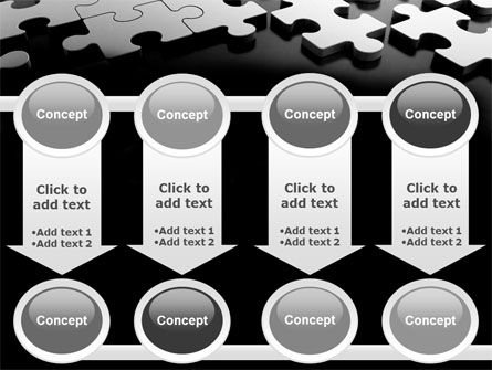 Silver Puzzle PowerPoint Template Slide 18