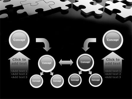Silver Puzzle PowerPoint Template Slide 19