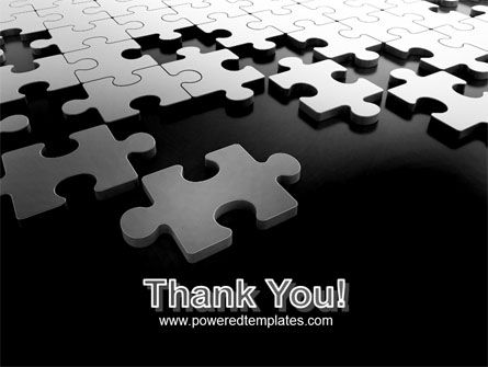 Silver Puzzle PowerPoint Template Slide 20