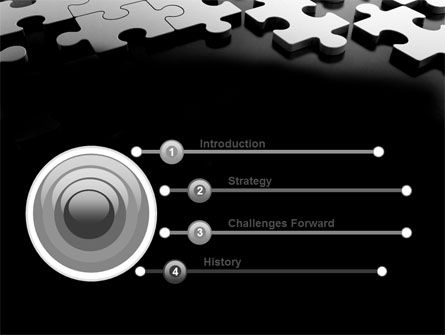 Silver Puzzle PowerPoint Template Slide 3