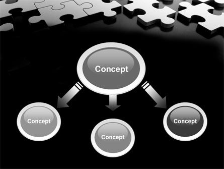 Silver Puzzle PowerPoint Template Slide 4