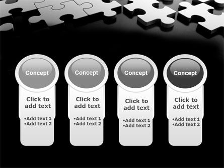 Silver Puzzle PowerPoint Template Slide 5