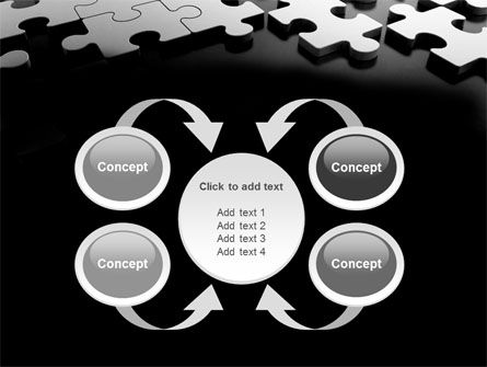Silver Puzzle PowerPoint Template Slide 6