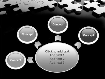 Silver Puzzle PowerPoint Template Slide 7