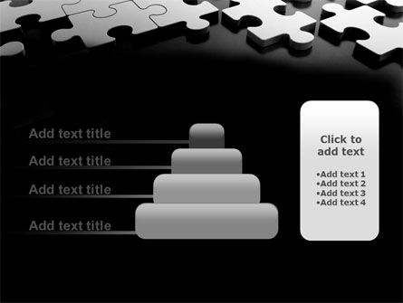 Silver Puzzle PowerPoint Template Slide 8