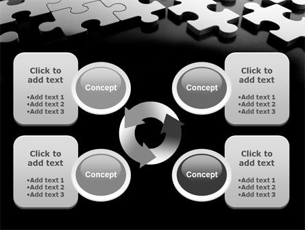 Silver Puzzle PowerPoint Template Slide 9