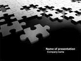 Consulting: Silver Puzzle PowerPoint Template #05940