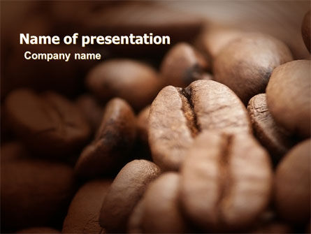 Coffee Beans In Brown Color PowerPoint Template, 05941, Food & Beverage — PoweredTemplate.com