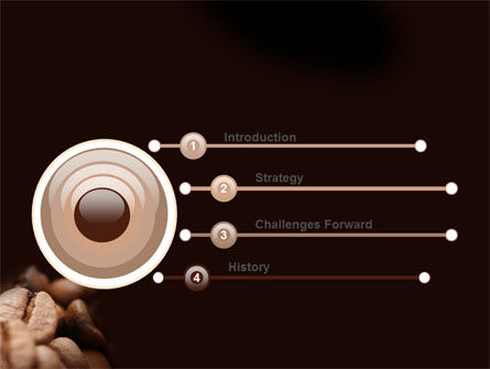 Coffee Beans In Brown Color PowerPoint Template, Slide 3, 05941, Food & Beverage — PoweredTemplate.com