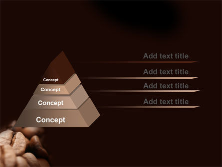 Coffee Beans In Brown Color PowerPoint Template, Slide 4, 05941, Food & Beverage — PoweredTemplate.com