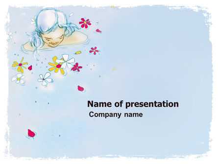 Abstract/Textures: Girl in Water Free PowerPoint Template #05944