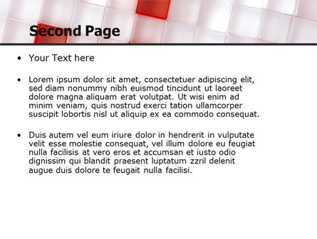 Red And White PowerPoint Template Slide 2