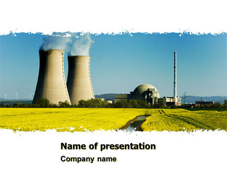 Utilities/Industrial: Atomic Power Plant PowerPoint Template #05946