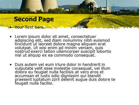Atomic Power Plant PowerPoint Template, Slide 2, 05946, Utilities/Industrial — PoweredTemplate.com