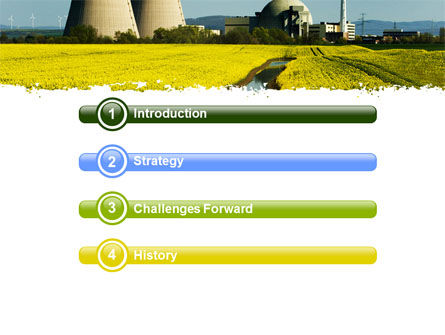 Atomic Power Plant PowerPoint Template, Slide 3, 05946, Utilities/Industrial — PoweredTemplate.com