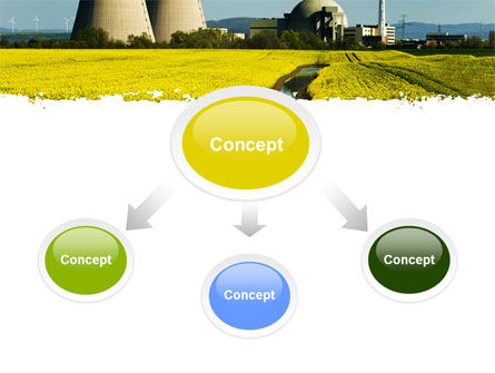 Atomic Power Plant PowerPoint Template, Slide 4, 05946, Utilities/Industrial — PoweredTemplate.com