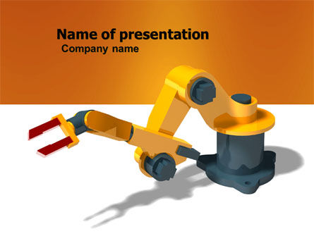 Production Line Robots PowerPoint Template, 05947, Technology and Science — PoweredTemplate.com