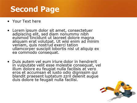 Production Line Robots PowerPoint Template, Slide 2, 05947, Technology and Science — PoweredTemplate.com