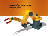 Technology and Science: Production Line Robots PowerPoint Template #05947
