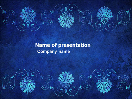Abstract/Textures: Indigo Theme PowerPoint Template #05951