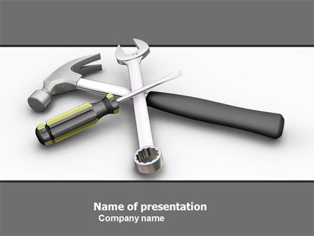 Tools In Gray Color PowerPoint Template