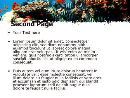 Coral Ledge PowerPoint Template, Slide 2, 05955, Nature & Environment — PoweredTemplate.com