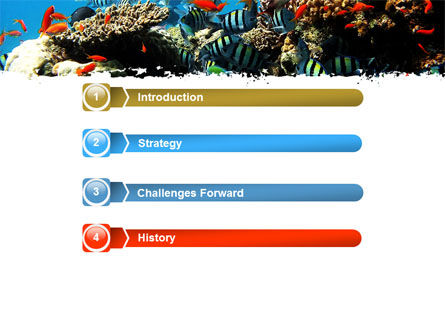 Coral Ledge PowerPoint Template, Slide 3, 05955, Nature & Environment — PoweredTemplate.com