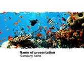 Nature & Environment: Modello PowerPoint - Sporgenza in corallo #05955